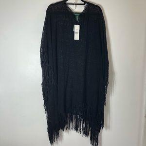 Ralph Lauren black knit cover up.